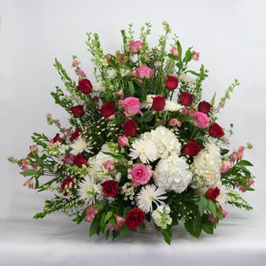 Red, Pink, White Sympathy Basket
