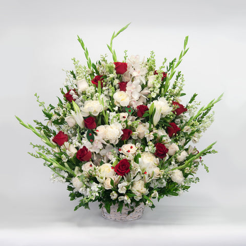White and Red Sympathy Basket