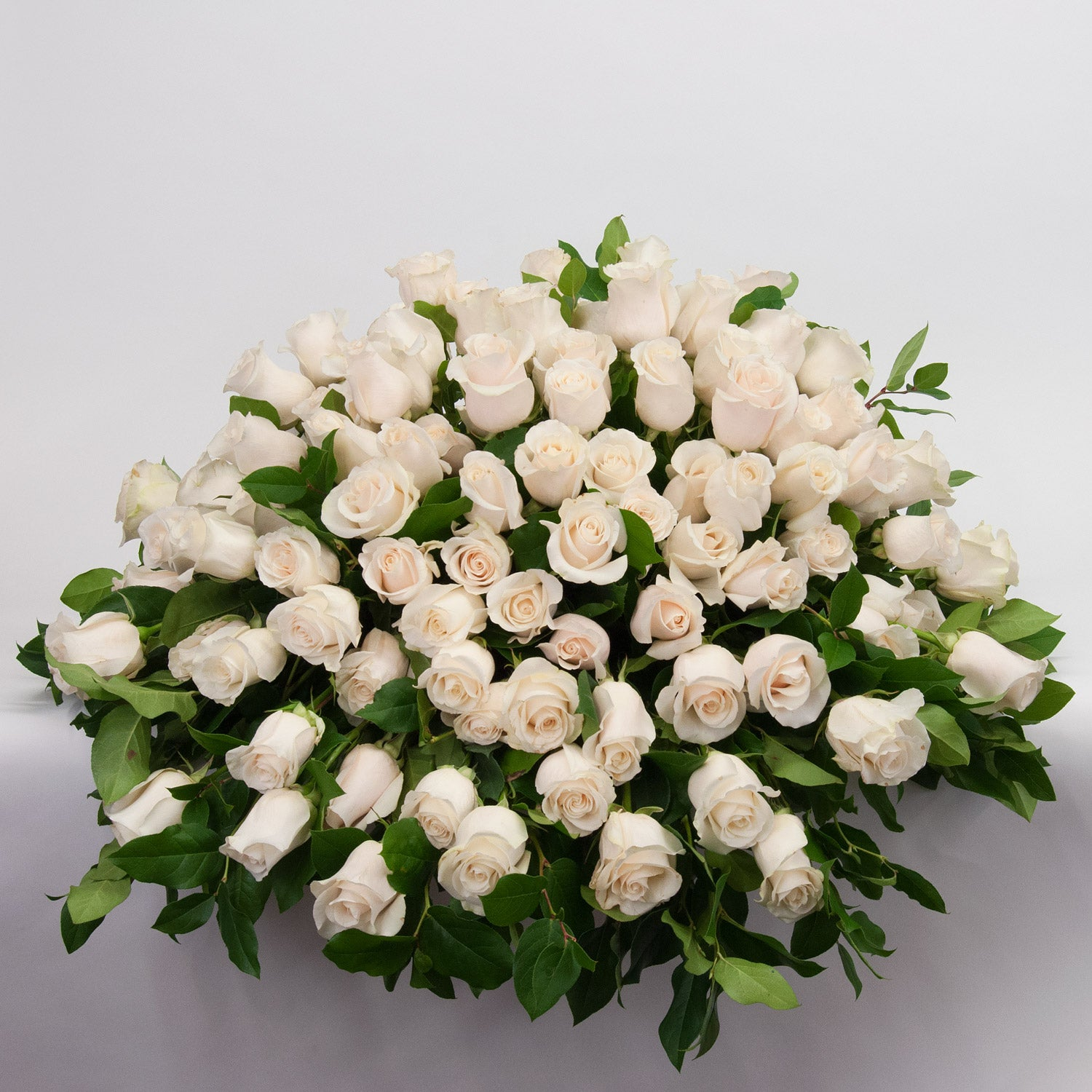 White Rose Casket Spray