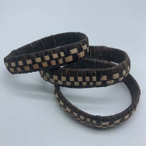 Basket Weave Bracelet-Brown Dye Variation - Lillon Boutique