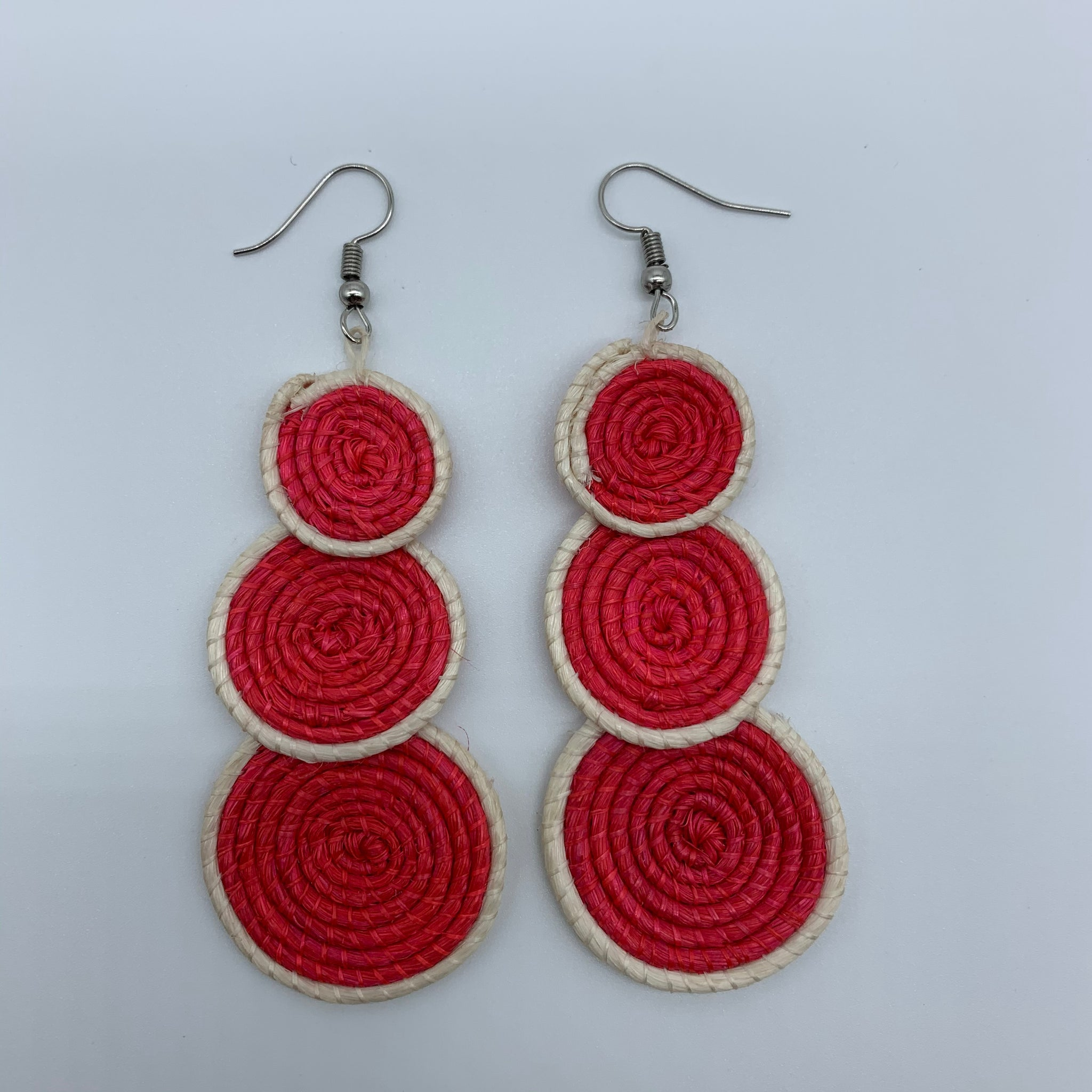 Sisal Earrings- 3C Red Variation - Lillon Boutique