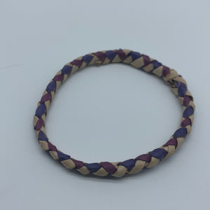 Basket Weave Bangle- Purple  Dye Variation 3 - Lillon Boutique