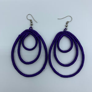 Sisal Earrings- NC Purple Variation - Lillon Boutique