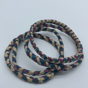 Basket Weave Bangle- Blue Dye Variation - Lillon Boutique