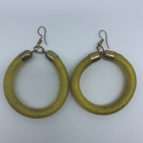 Thread Earrings-Yellow Variation - Lillon Boutique