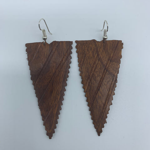 Wood Earrings-Triangle - Lillon Boutique