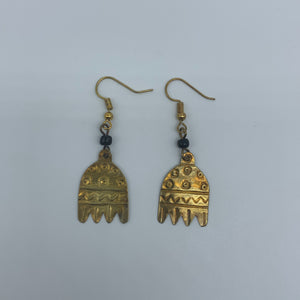 Brass Earrings-The Almira - Lillon Boutique