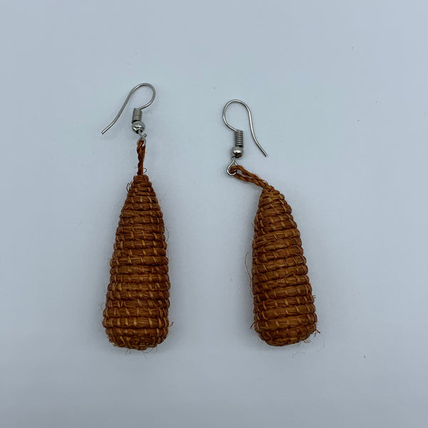 Sisal Earrings- D Brown Variation - Lillon Boutique