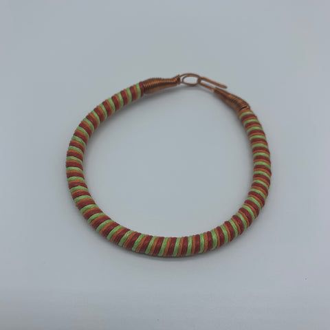 Thread W/Metal Wire Bracelet-Red Variation - Lillon Boutique