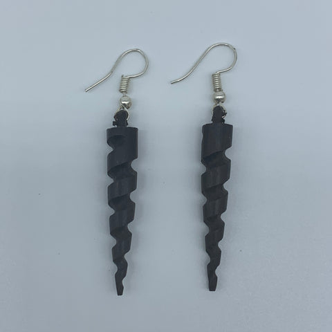 Wood Earrings-Drill Bit - Lillon Boutique