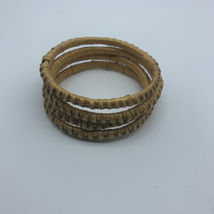 Basket Weave Bangle-Greyish Dye Variation - Lillon Boutique