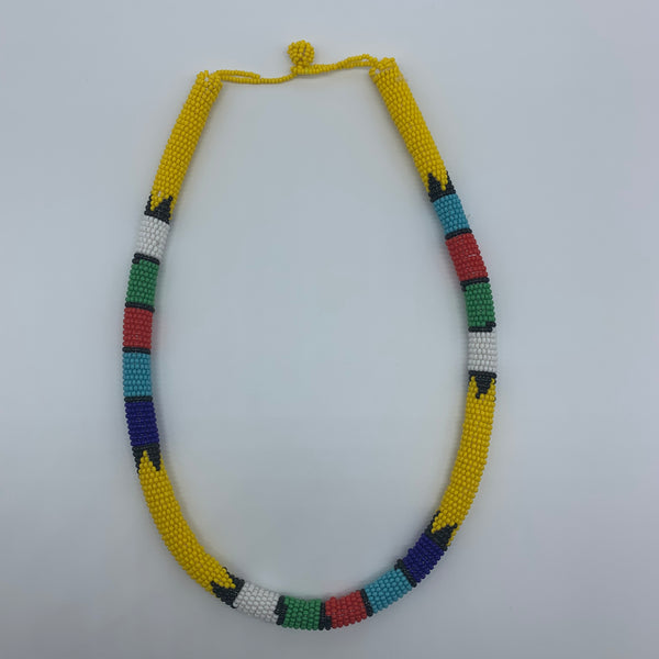 Beaded Bangle Necklace-Yellow Variation - Lillon Boutique