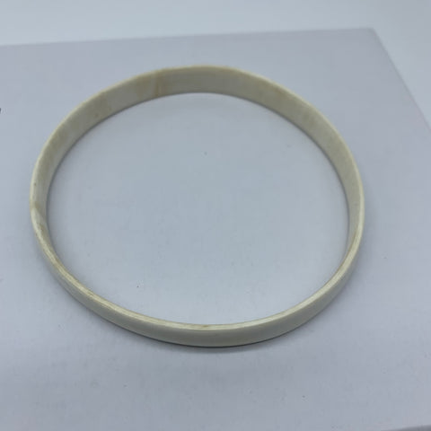 Cow Horn Bangle-S White Variation 3 - Lillon Boutique