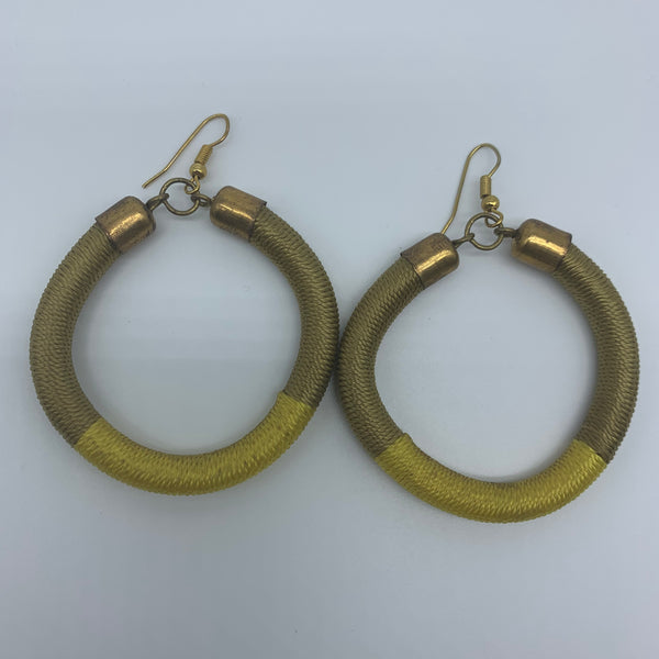 Thread Earrings-Yellow Variation 2 - Lillon Boutique