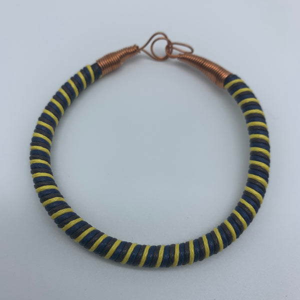 Thread W/Metal Wire Bracelet- Yellow Variation - Lillon Boutique