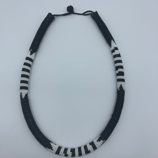 Beaded Bangle Necklace-Black Variation - Lillon Boutique