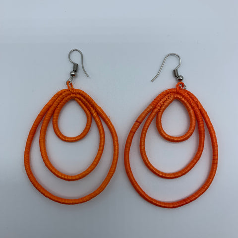 Sisal Earrings- NC Orange Variation - Lillon Boutique