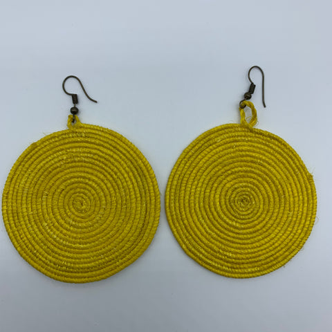 Sisal Earrings-Yellow