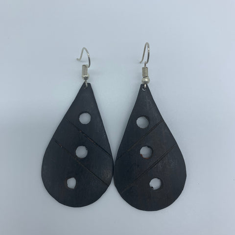 Wood Earrings- Rain Drop - Lillon Boutique