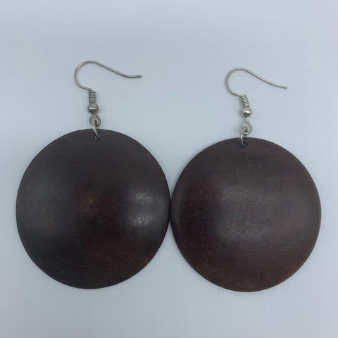 Wood Earrings-S Circle - Lillon Boutique