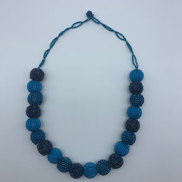 Beaded Necklace-Blue Variation - Lillon Boutique