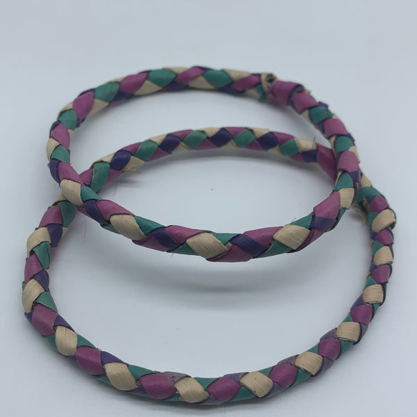 Basket Weave Bangle- Blue Dye Variation 2 - Lillon Boutique