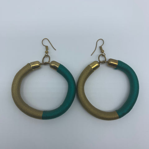 Thread Earrings-Green Variation - Lillon Boutique