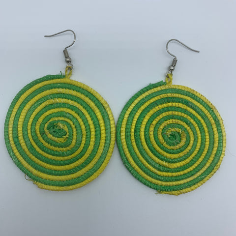 Sisal Earrings-Yellow Variation 2 - Lillon Boutique