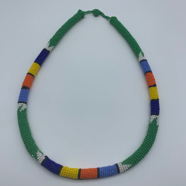 Beaded Bangle Necklace-Green Variation - Lillon Boutique
