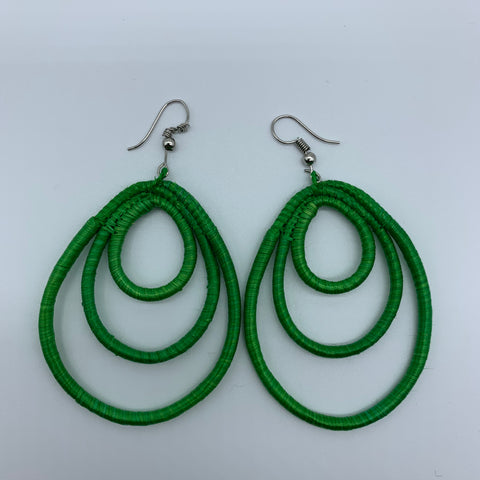 Sisal Earrings- NC Green Variation - Lillon Boutique
