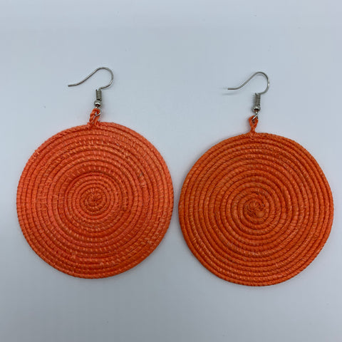 Sisal Earrings-Orange Variation - Lillon Boutique