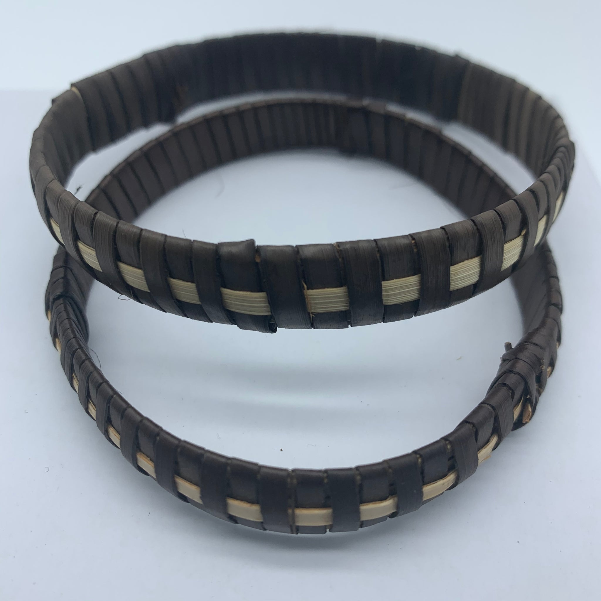 Basket Weave Bracelet-Brown Dye Variation 3 - Lillon Boutique
