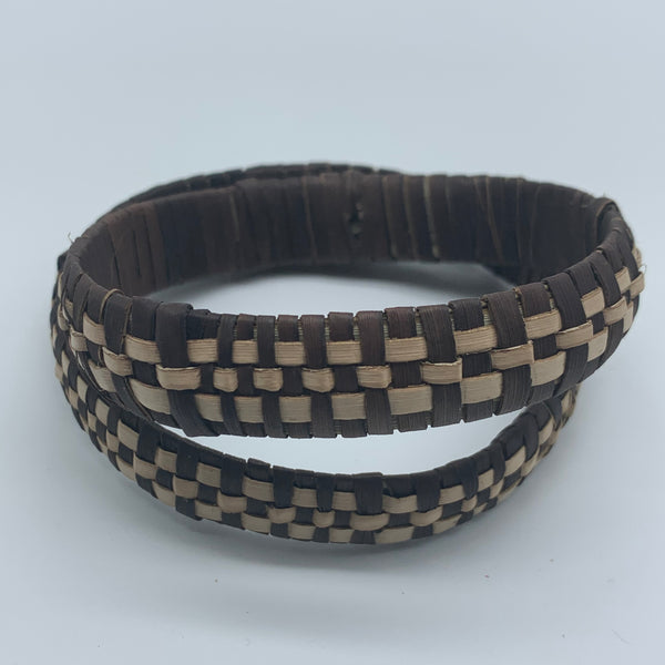 Basket Weave Bracelet-Brown Dye Variation 2 - Lillon Boutique