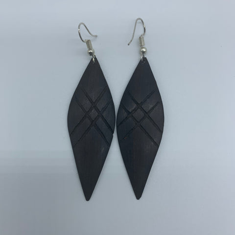 Wood Earrings-Spear - Lillon Boutique
