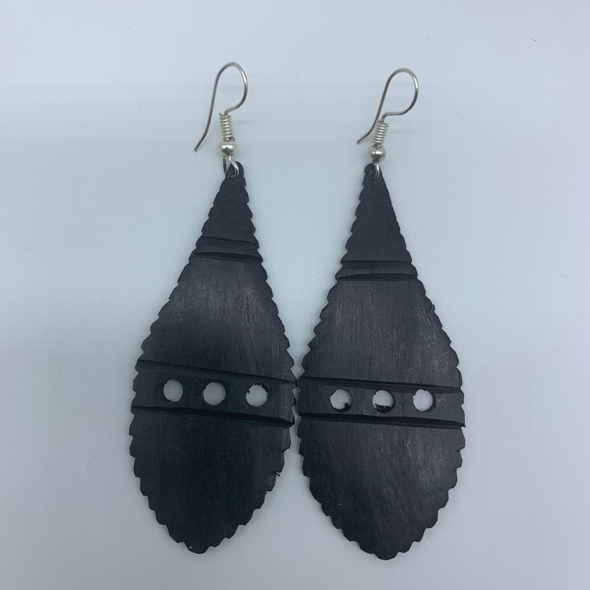 Wood Earrings- Rain Drop 2 - Lillon Boutique
