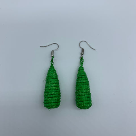Sisal Earrings- D Green Variation - Lillon Boutique