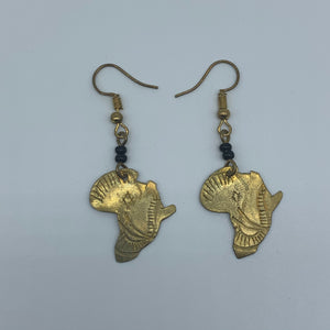 Brass Earrings-Africa - Lillon Boutique