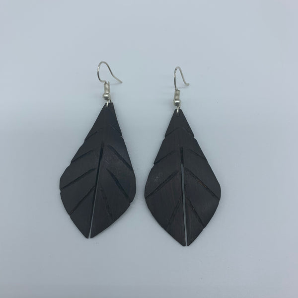Wood Earrings- Leaf 2 - Lillon Boutique