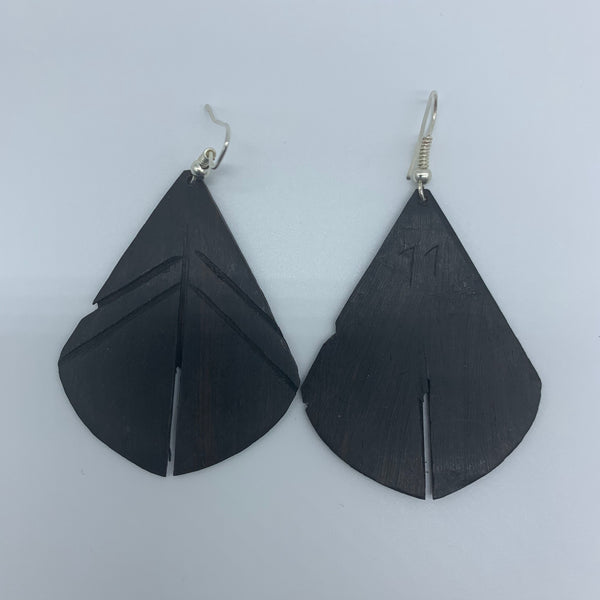 Wood Earrings- Leaf 3 - Lillon Boutique