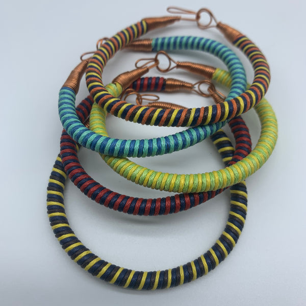 Thread W/Metal Wire Bracelet-Green Variation - Lillon Boutique