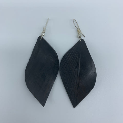 Wood Earrings- Leaf 4 - Lillon Boutique