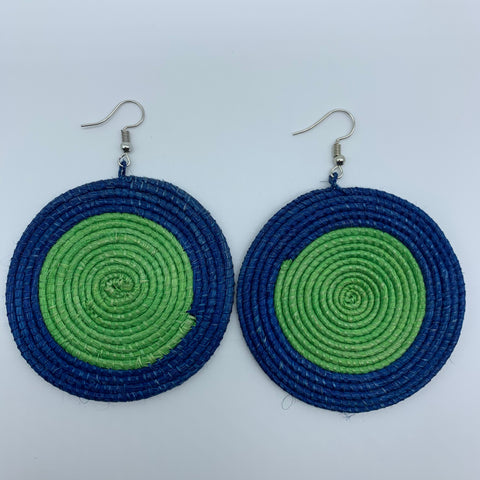 Sisal Earrings-Blue Variation 2 - Lillon Boutique