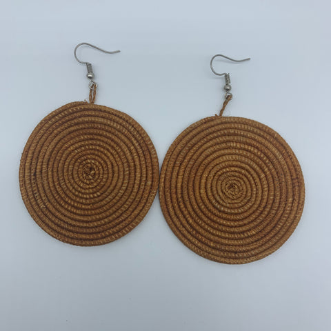 Sisal Earrings- Brown Variation - Lillon Boutique