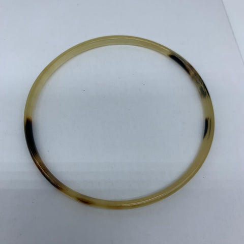 Cow Horn Bangle-XS Natural Variation 4 - Lillon Boutique