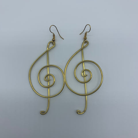 Golden Metal Earrings-Sol Key - Lillon Boutique