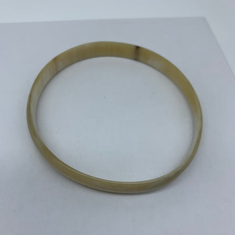 Cow Horn Bangle-S Natural Variation 6 - Lillon Boutique