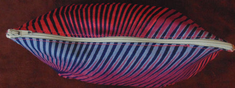 Blue & Pink African Print Makeup bag/Pencil case