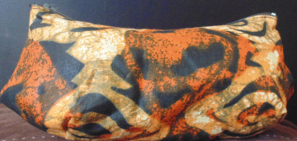 Orange variation African Print Makeup bag/Pencil case - Lillon Boutique