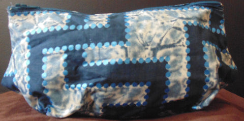 Blue African Print Makeup bag/Pencil case