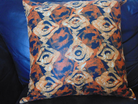 Orange Variation  African Print Pillow Cover